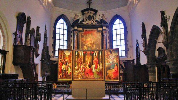 Pinturas de Hans Memling en el Hospital de San Juan en Brujas