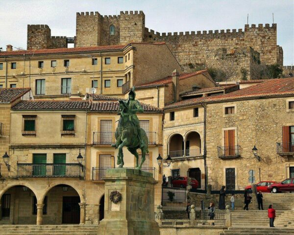 Plaza Mayor de Trujillo en Extremadura