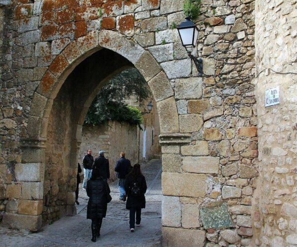 Puerta de San Andrés en Trujillo en Extremadura