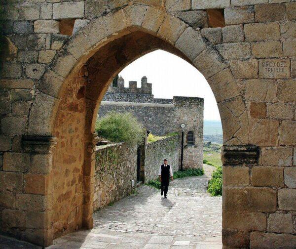 Arco del Triunfo en Trujillo en Extremadura