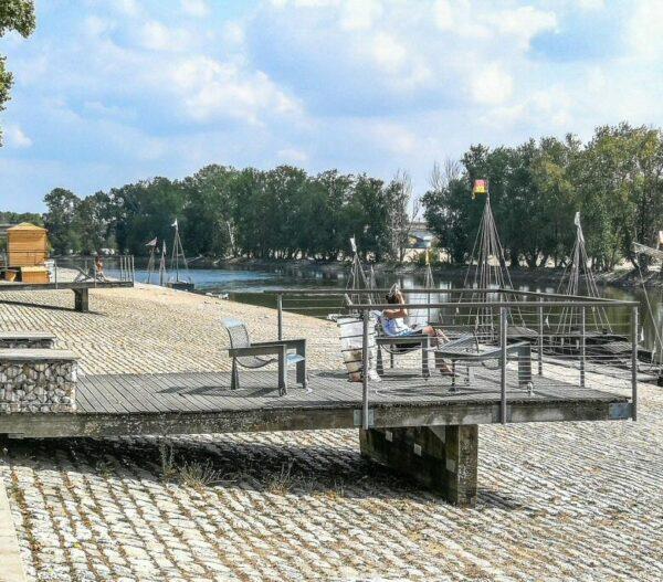 Muelle de Chatelet en Orleans en Valle del Loira