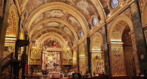 Concatedral de San Juan en La Valeta en Malta