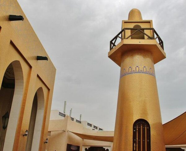 Mezquita en el Centro Cultural Katara en Doha en Qatar