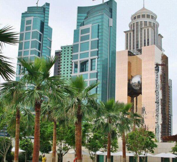 Rascacielos en el Barrio Financiero de Doha en Qatar