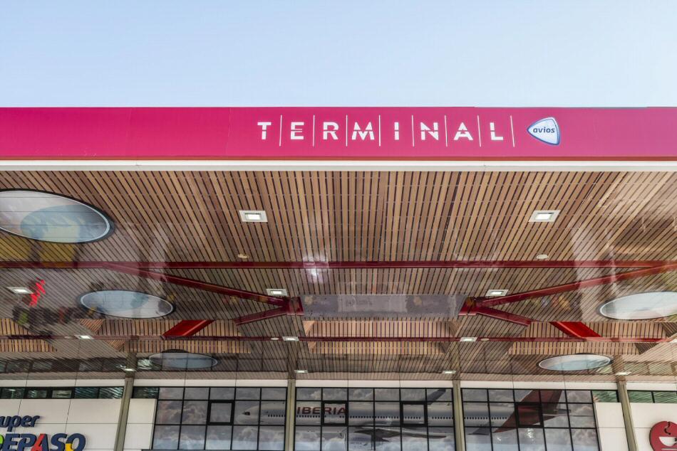Terminal Avios en la estación de servicio de Cepsa de Campo de las Naciones