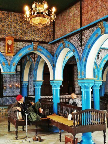 Rincón de la sinagoga judía de la isla de Djerba en Túnez