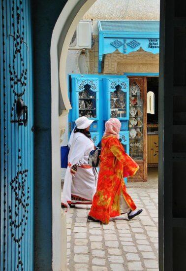 Rincón de la medina de la isla de Djerba en Túnez