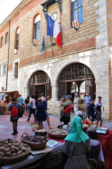 Ayuntamiento de Perpiñán al sur de Francia