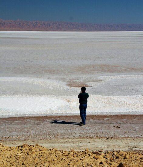 Lago salado Chott El Jerid en Túnez