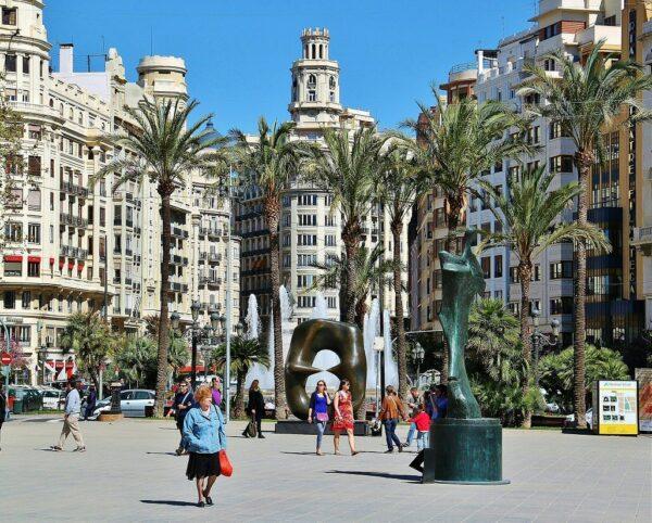 Plaza del Ayuntamiento en Valencia