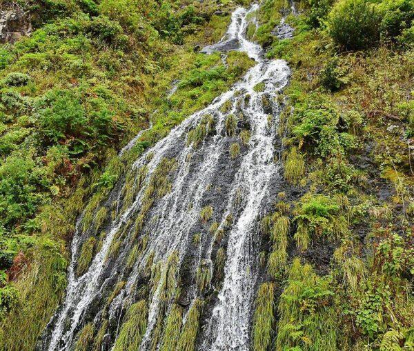 Cataratas en la isla de Madeira en Portugal