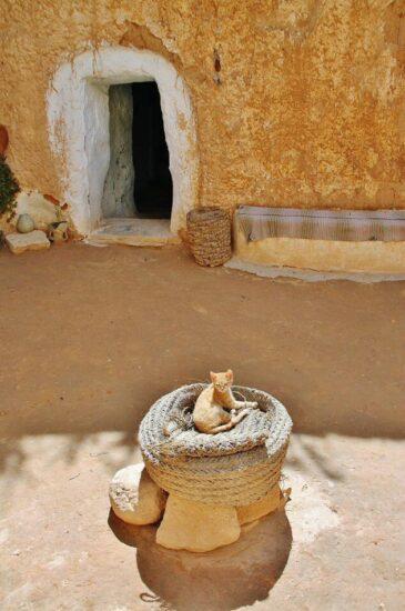 Casa troglodita en Matmata en Túnez