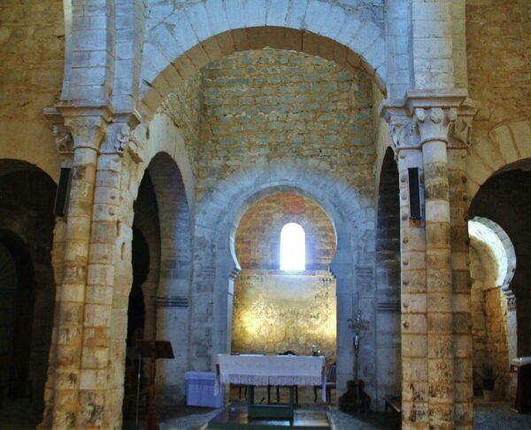 Cabecera de la iglesia mozárabe de Wamba en Valladolid