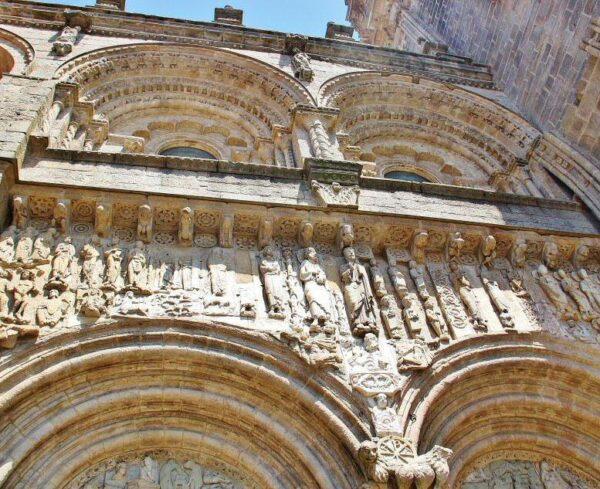 Portada de las Platerías en la catedral de Santiago de Compostela