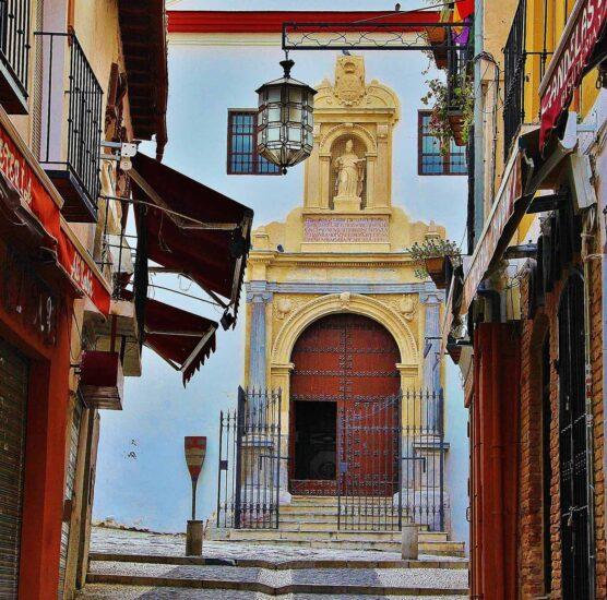 Rincón del barrio de Albaicín en Granada