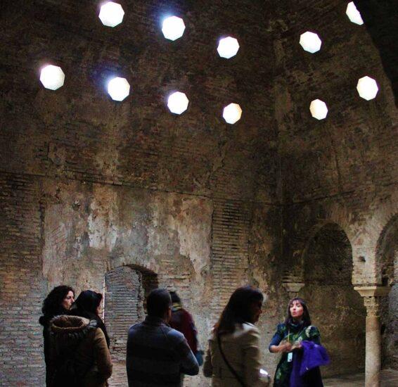 Antiguo hammán árabe en Granada