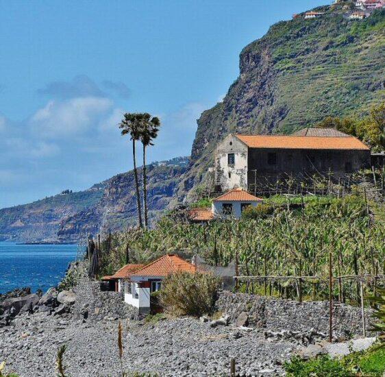Faja dos Padres en Madeira en Portugal