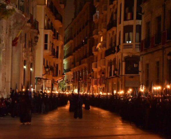 Procesión del Silencio en Semana Santa de Murcia