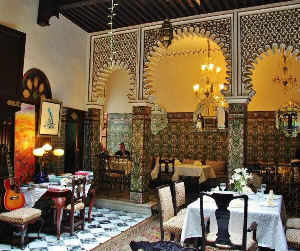 Restaurante del riad El Reducto en la medina de Tetuán