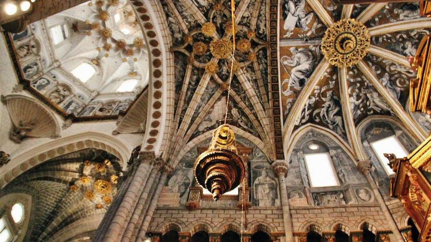 Decoración del techo de la Catedral de Tarazona en Aragón