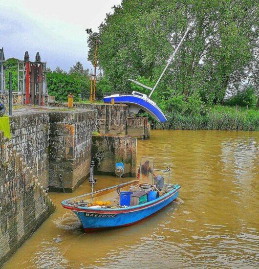 Instalación artística en el Estuario del Loira cerca de Nantes