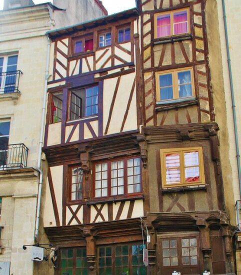 Casas medievales entramadas en Nantes