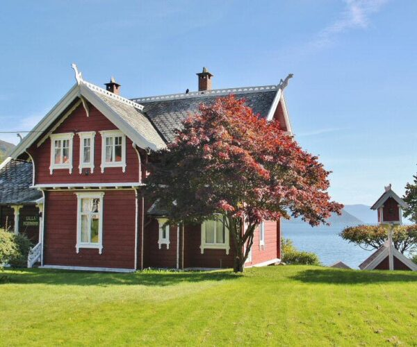 Rincón de Balestrand en Sognefjord en Noruega