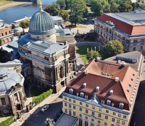 Vistas desde la cúpula de la Frauenkirche de Dresde
