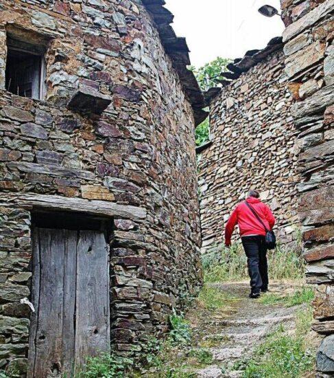 Arquitectura rural en Aceitunilla en Las Hurdes en la provincia de Cáceres