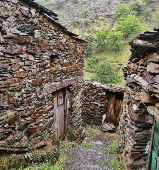 Arquitectura rural en El Gasco en Las Hurdes en la provincia de Cáceres