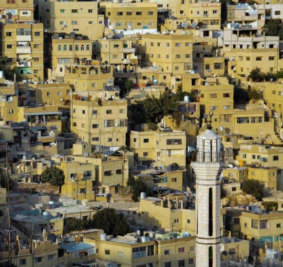 Vistas de Amman desde la ciudadela en Jordania