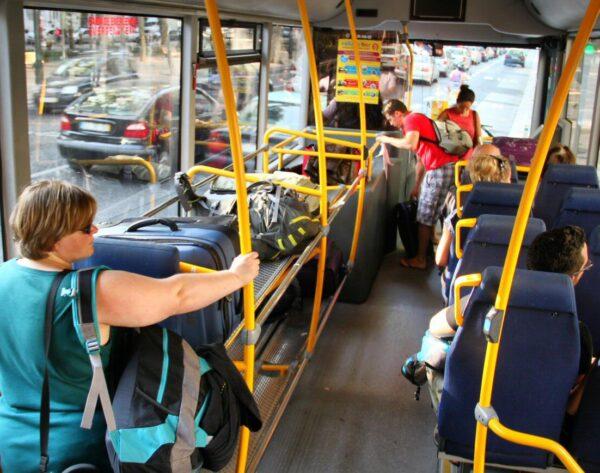 Autobús del aeropuerto Aerobús para ir al centro de Lisboa