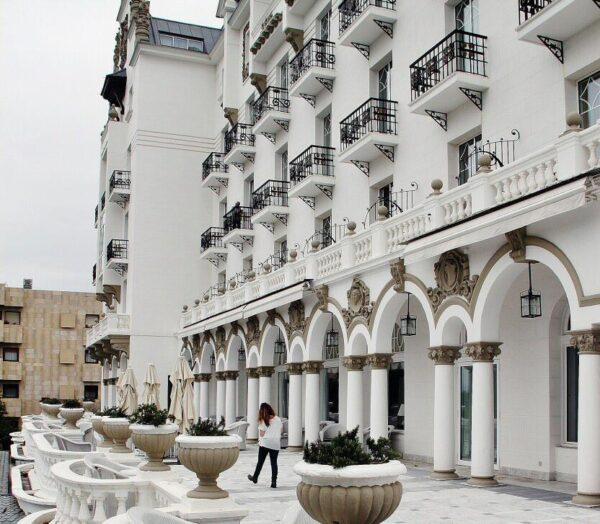 Terraza del Hotel Real en el Sardinero en Santander