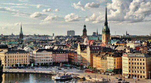 Vistas panorámicas desde el ascensor Katarina en Estocolmo