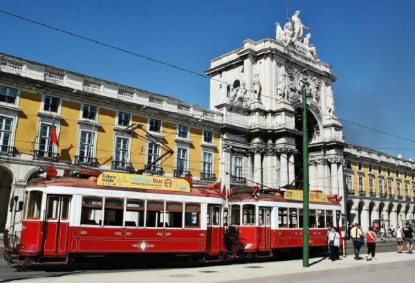 Plaza de Comercio en Lisboa en Portugal