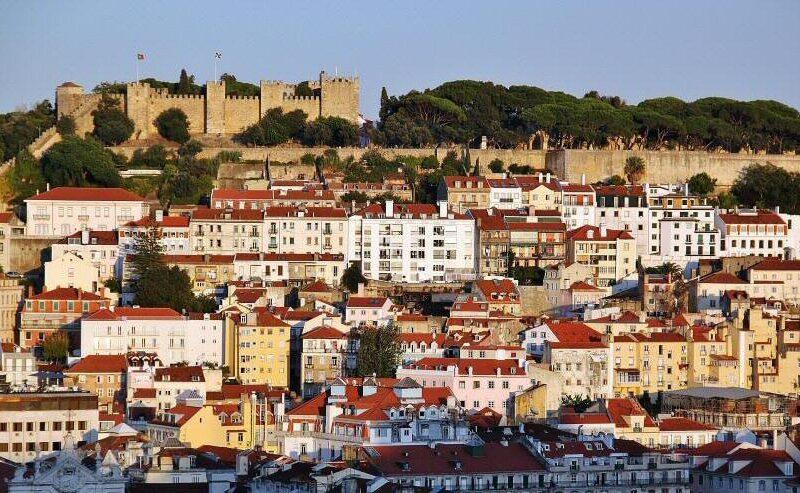 Vistas de Lisboa desde mirador San Pedro de Alcántara