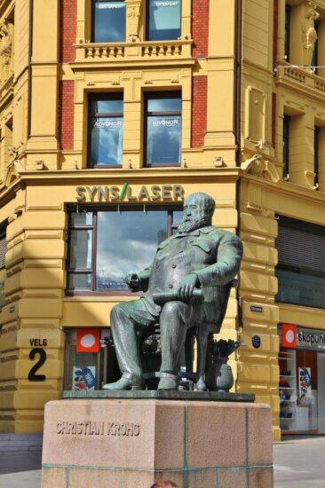 Rincón del centro de Oslo en Noruega