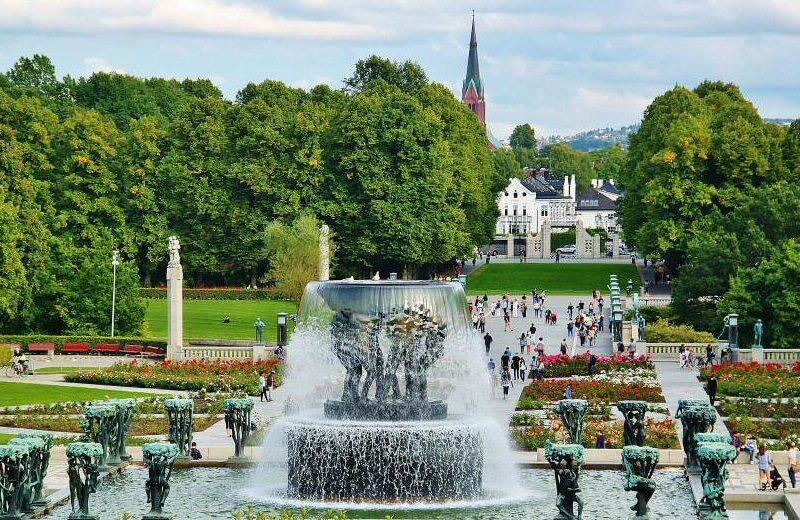 Parque Vigeland en Oslo en Noruega