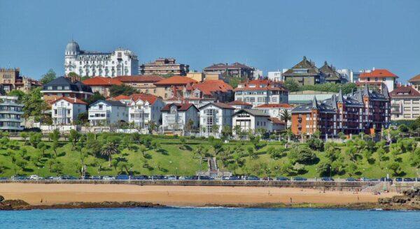 Panorámica del Sardinero en Santander en Cantabria