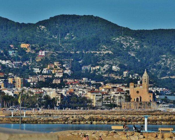 Sitges en los alrededores de Barcelona