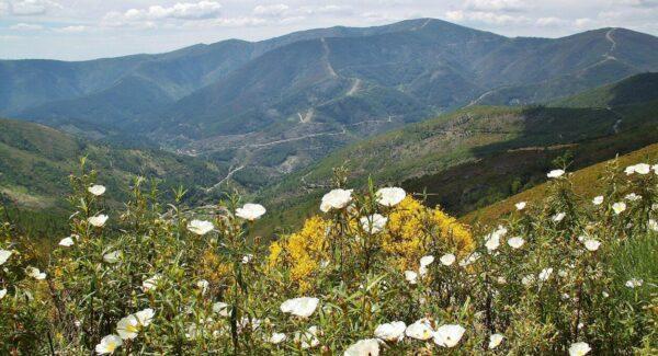 Paisaje de Las Hurdes en la provincia de Cáceres en Extremadura