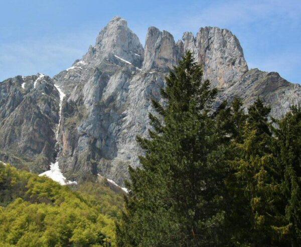 Paisajes de montaña en Fuente Dé en Cantabria