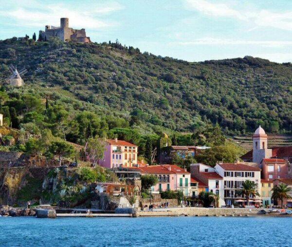 Paisajes de Collioure en Perpiñán al sur de Francia