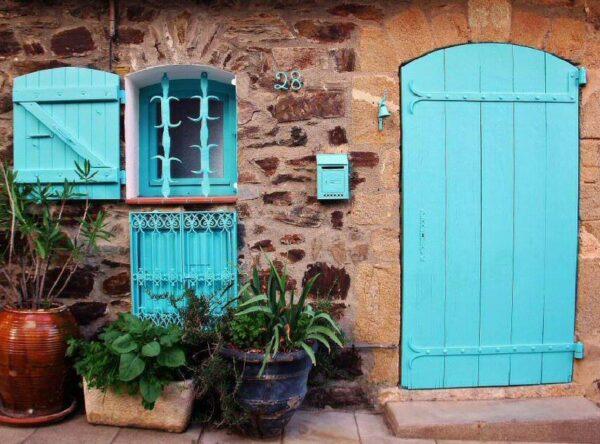 Rincón del casco histórico de Collioure al sur de Francia