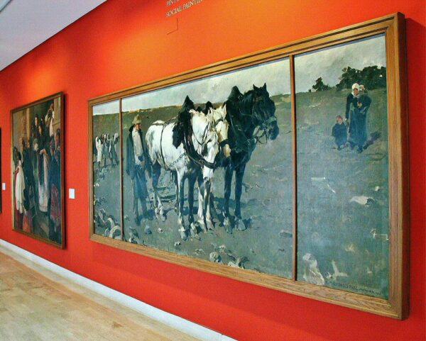 Pintura social en el museo de Bellas Artes de Valencia