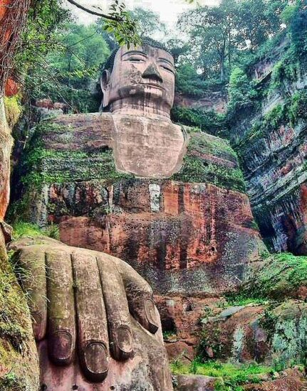 Gran Buda de Leshan cerca de Chengdu en China