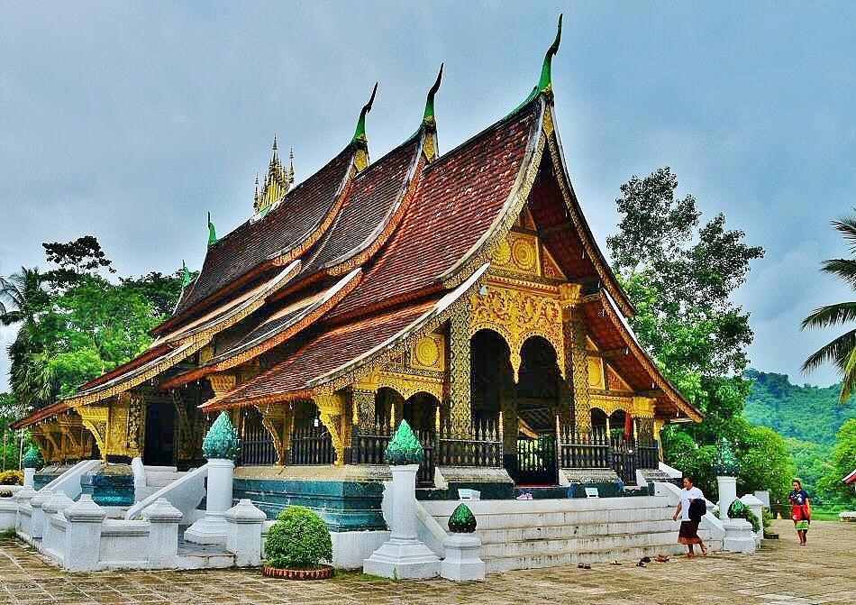Templo de Wat Xieng Thong en Luang Pragang en Laos