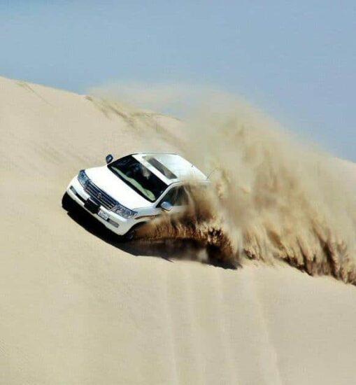 Surfeando por las dunas en 4×4 en el desierto de Qatar