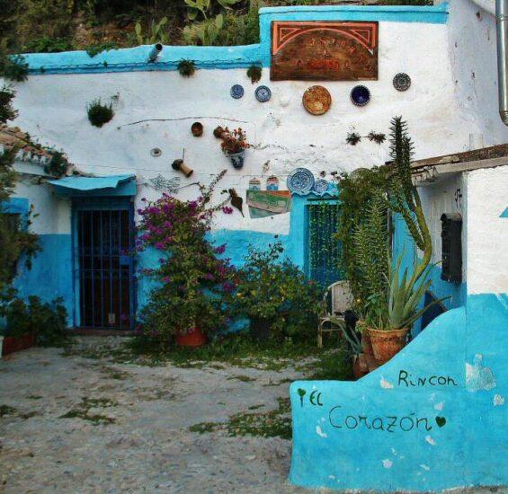 Rincón del barrio de Sacromonte en Granada