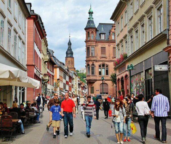 Calle Haupstrasse de Heidelberg en Alemania